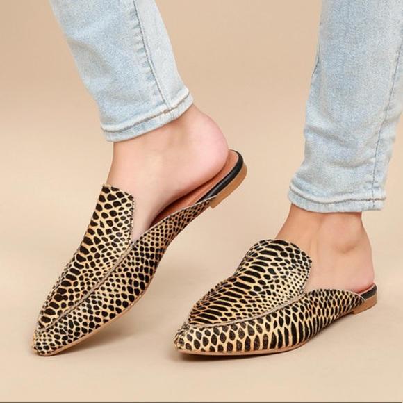 06d5144f8fc0 Calf hair leopard print mules. M 5b9bef231b32943ee67634bc